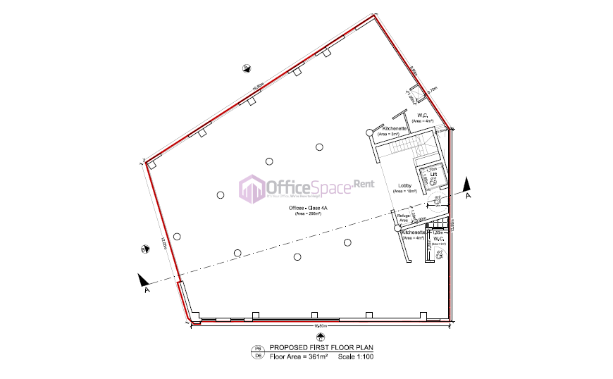 Typical Floor Plan 1 Office Space Renting In Malta Made